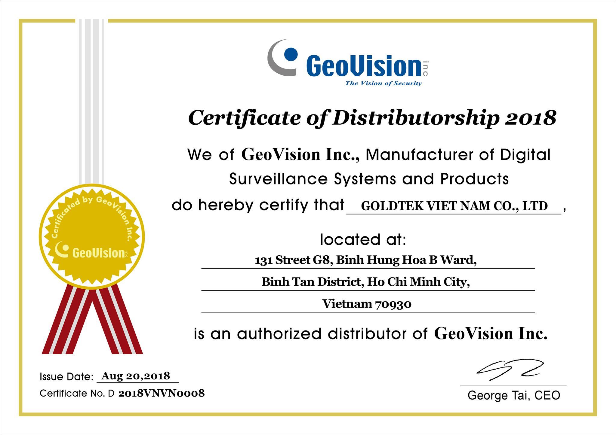 Nhà phân phối chính thức GeoVision Đài Loan tại Việt Nam